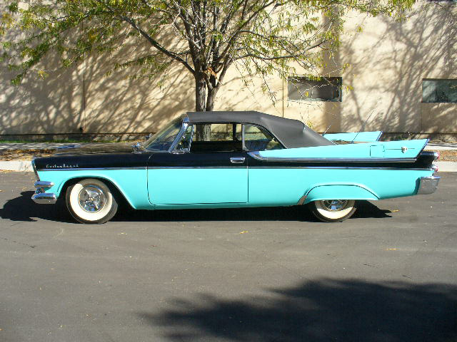 1957 DODGE CUSTOM ROYAL LANCER CONVERTIBLE - Side Profile - 61870
