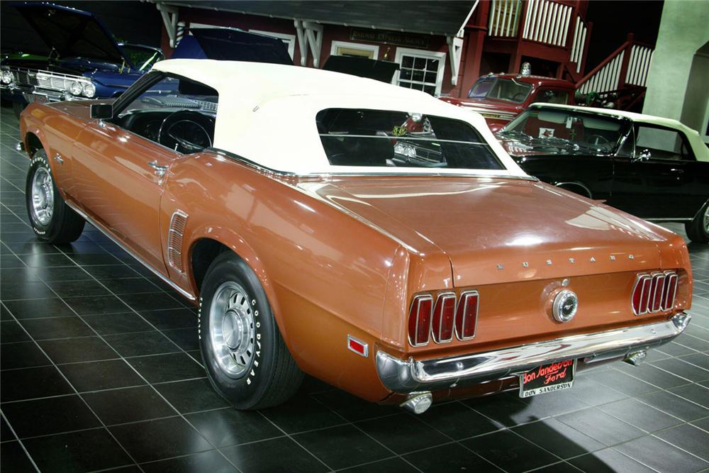 1969 FORD MUSTANG 428 SCJ CONVERTIBLE - Rear 3/4 - 61877