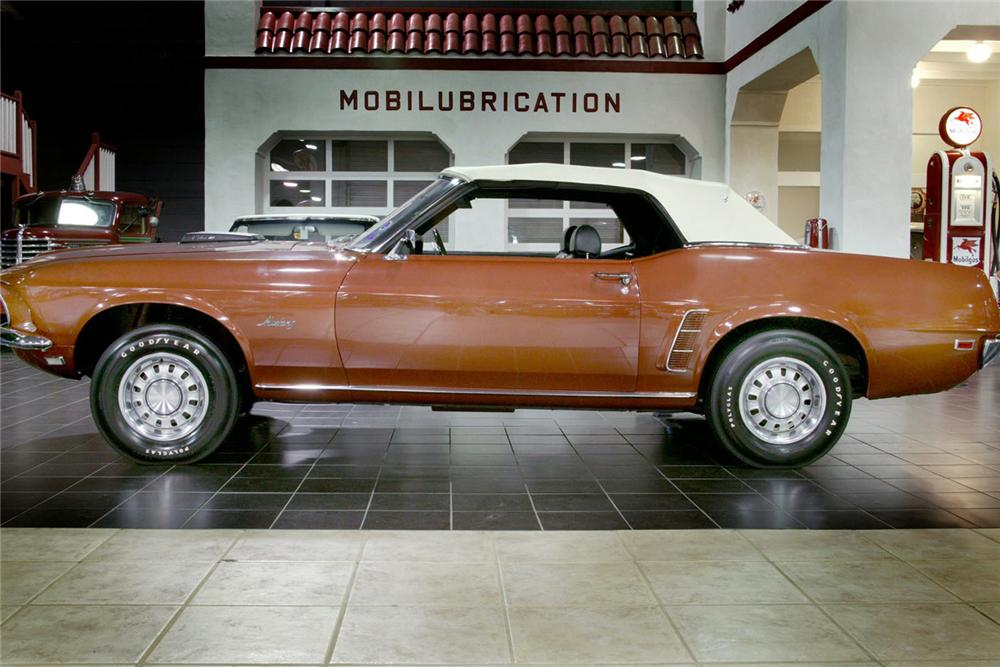 1969 FORD MUSTANG 428 SCJ CONVERTIBLE - Side Profile - 61877