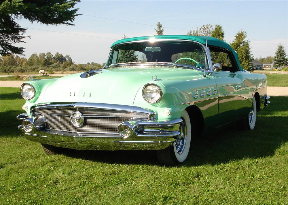 1956 BUICK ROADMASTER CONVERTIBLE - Front 3/4 - 61905