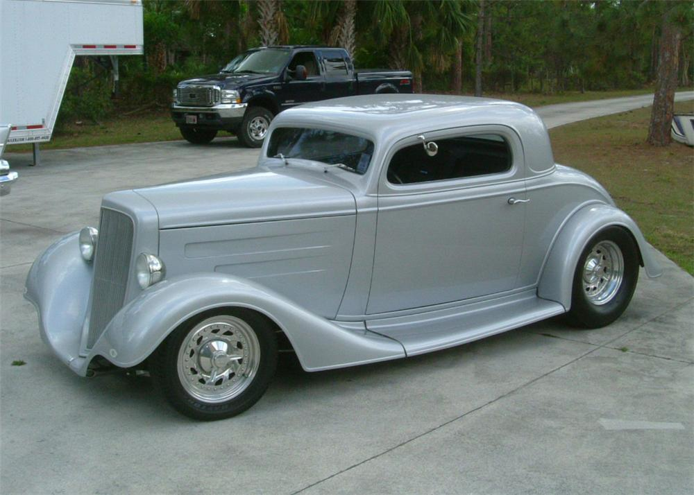 1934 CHEVROLET CUSTOM 2 DOOR COUPE - Front 3/4 - 61919