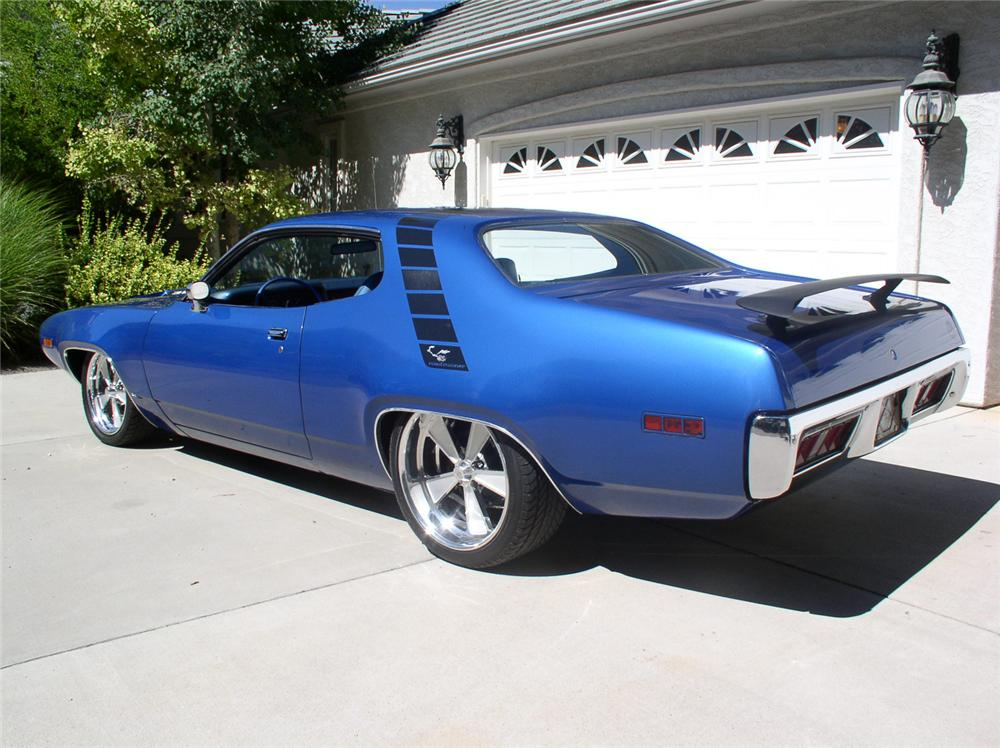 1971 PLYMOUTH ROAD RUNNER 2 DOOR HARDTOP - Rear 3/4 - 62008