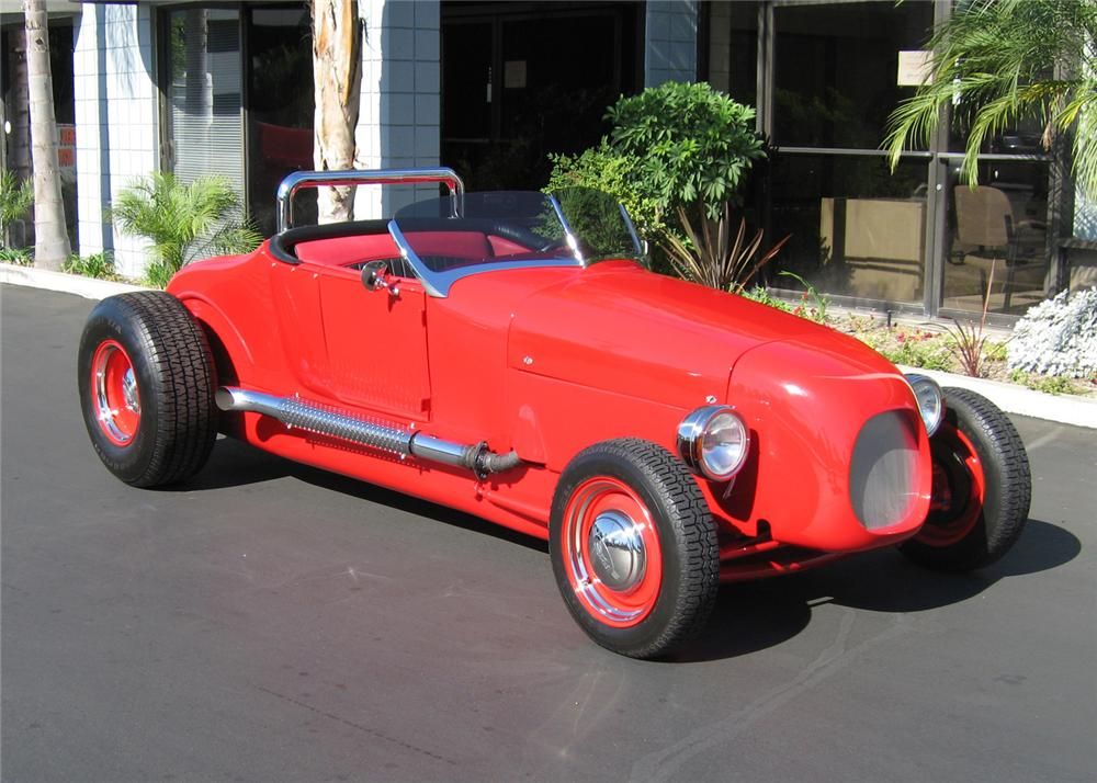 1927 FORD CUSTOM ROADSTER - Front 3/4 - 62012