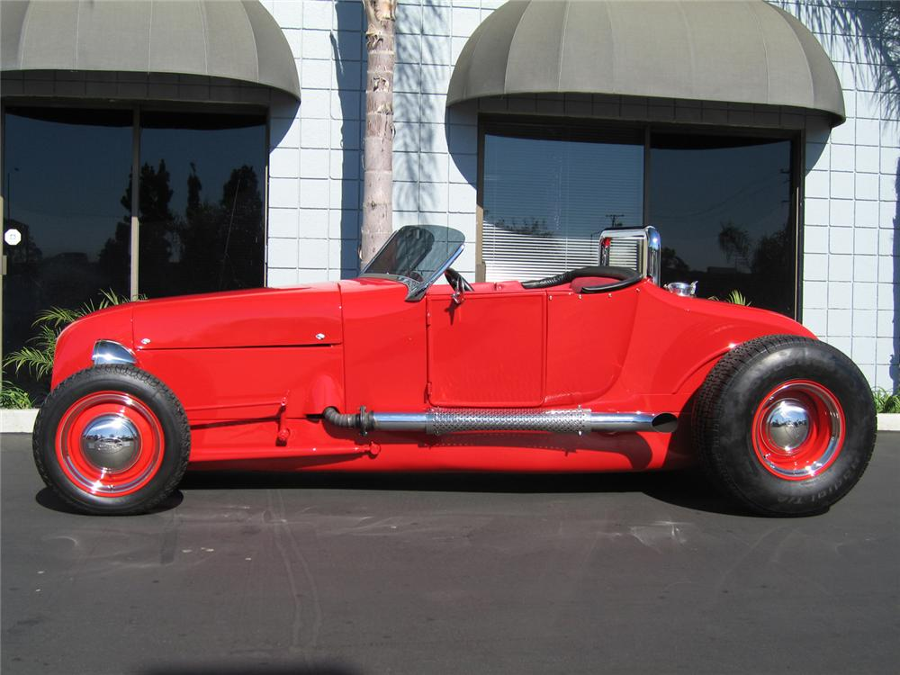 1927 FORD CUSTOM ROADSTER - Side Profile - 62012