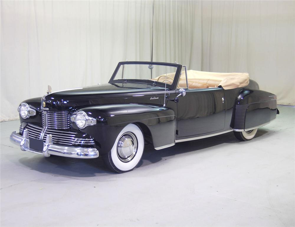 1942 LINCOLN CONTINENTAL CONVERTIBLE - Front 3/4 - 62042