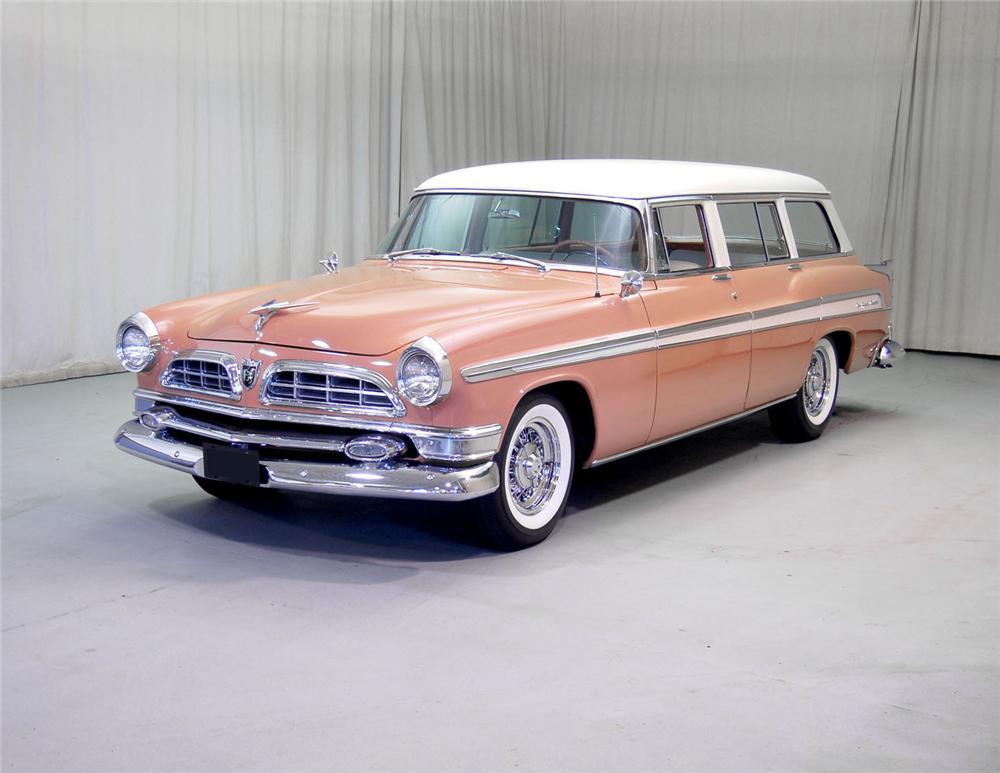 1955 CHRYSLER NEW YORKER STATION WAGON - Front 3/4 - 62045