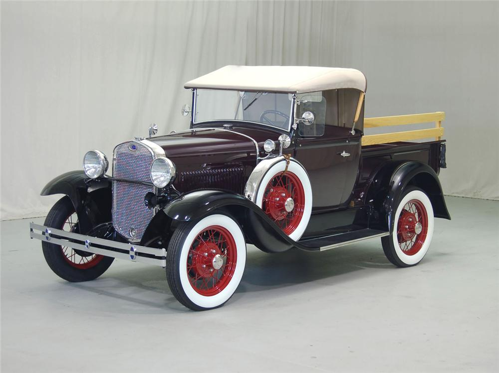 1930 FORD MODEL A PICKUP - Front 3/4 - 62046