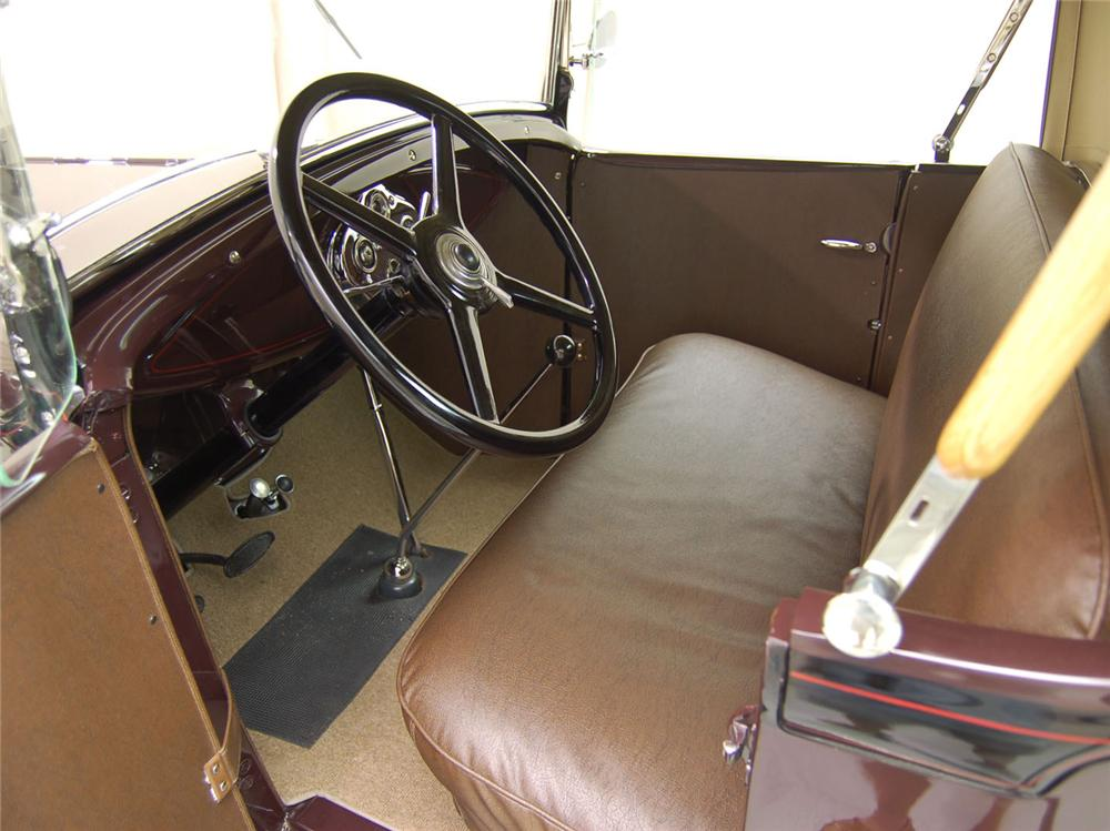 1930 FORD MODEL A PICKUP - Interior - 62046