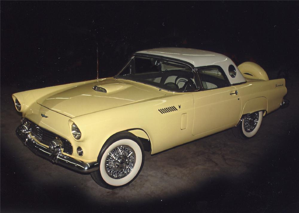 1956 FORD THUNDERBIRD CONVERTIBLE - Front 3/4 - 62062