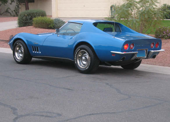 1969 CHEVROLET CORVETTE COUPE - Rear 3/4 - 62148