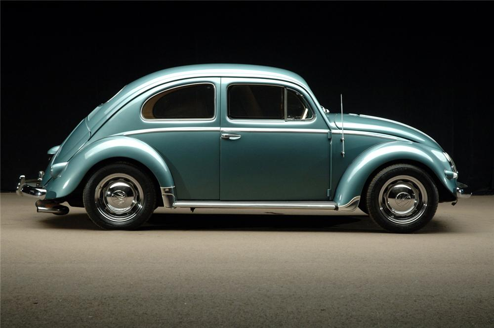 1957 VOLKSWAGEN BEETLE COUPE - Side Profile - 62150