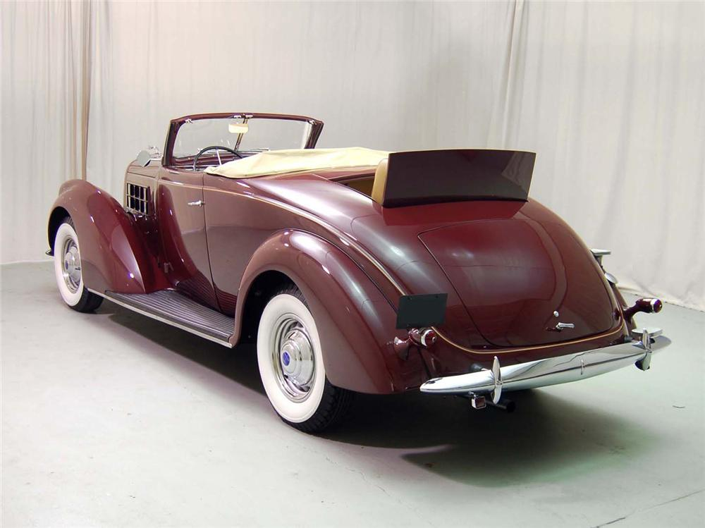 1937 LINCOLN K CABRIOLET - Rear 3/4 - 62229