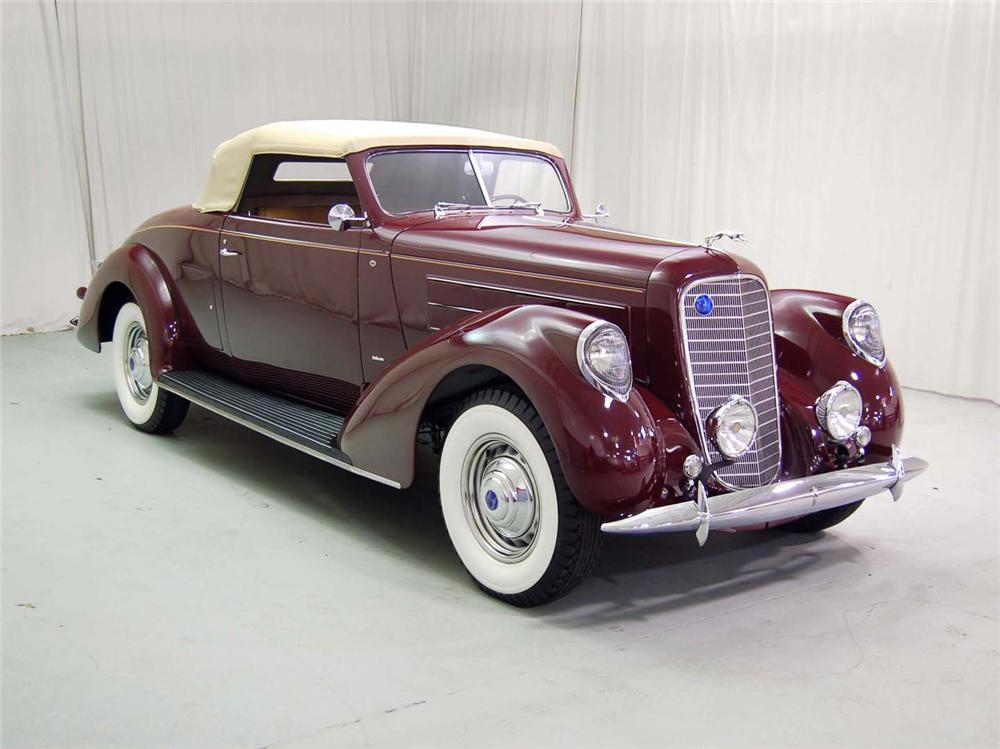 1937 LINCOLN K CABRIOLET - Side Profile - 62229