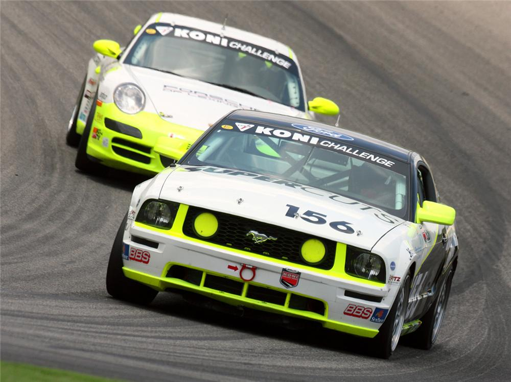 """2005 FORD MUSTANG FR500C RACECAR """"PATRICK DEMPSEYS"""" - Front 3/4 - 62348"""