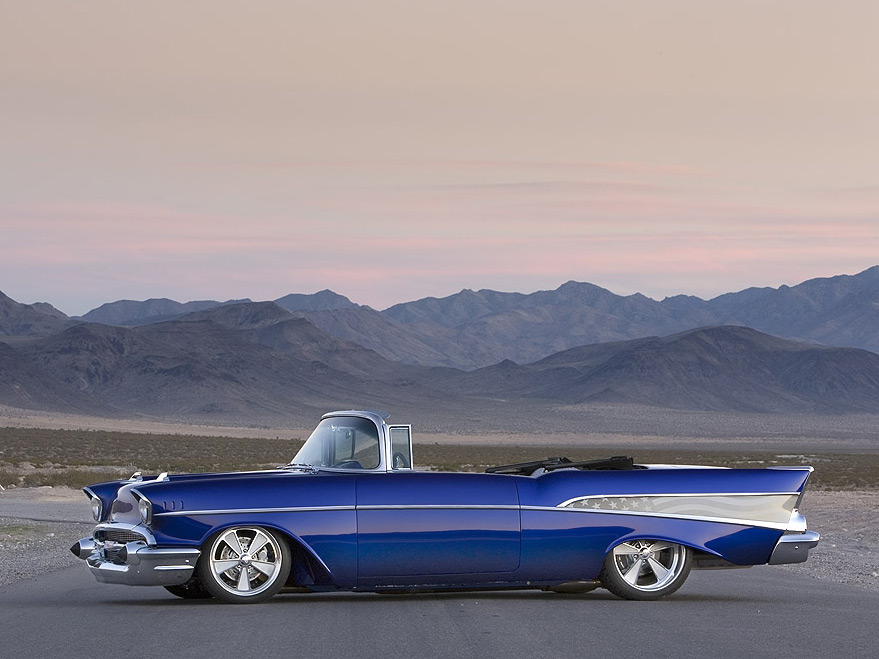 "1957 CHEVROLET BEL AIR CONVERTIBLE ""AMERICAN HEROES"" - Side Profile - 63812"