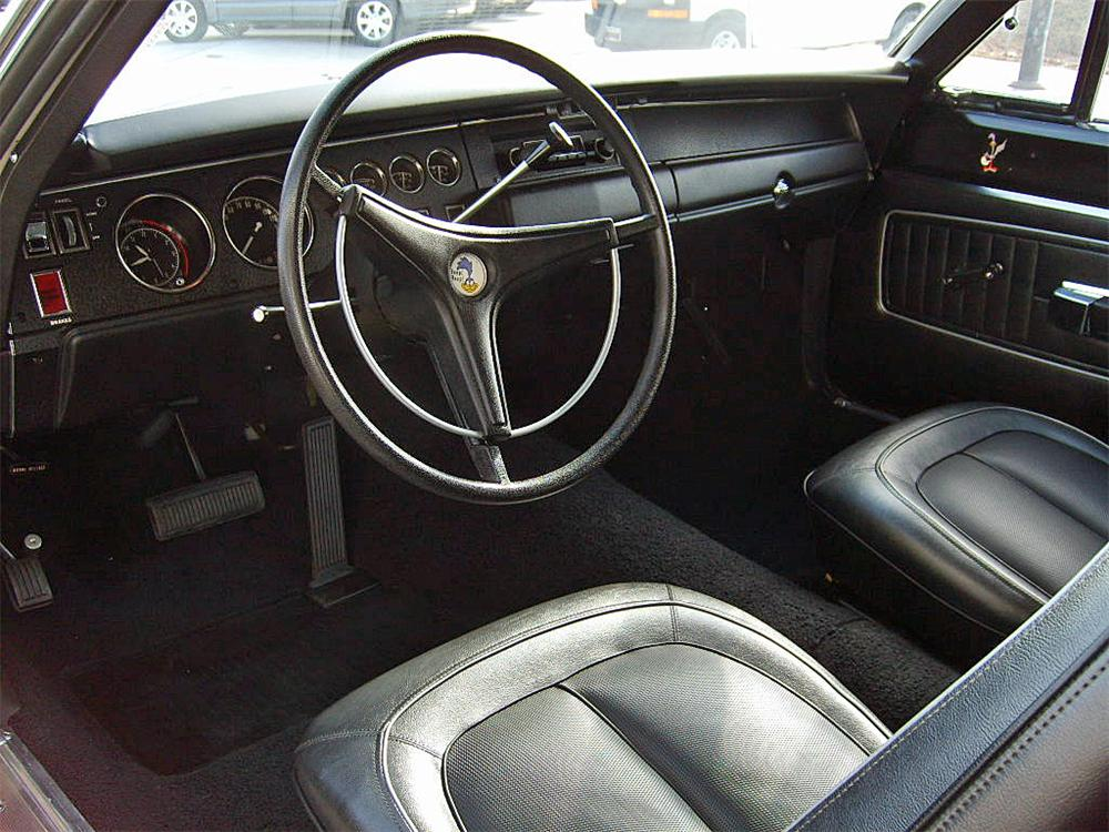 1970 PLYMOUTH SUPERBIRD 2 DOOR  HARDTOP - Interior - 63819