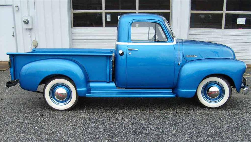 1951 CHEVROLET STEP-SIDE 1/2 TON PICKUP - Side Profile - 63821