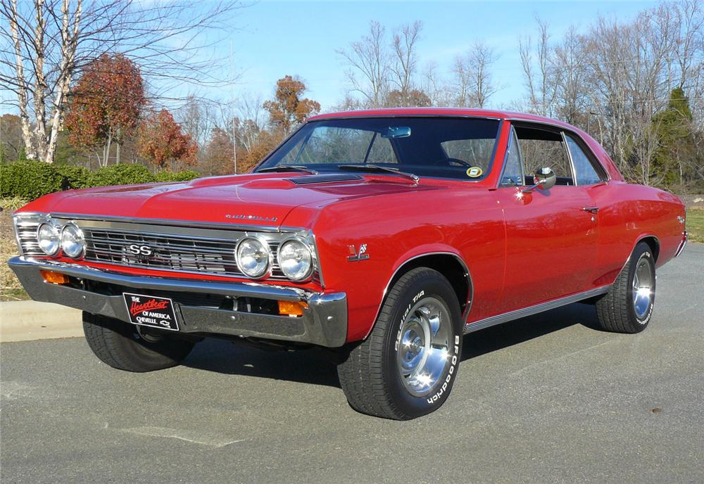 1967 CHEVROLET CHEVELLE SS 396 2 DOOR COUPE - Front 3/4 - 63830