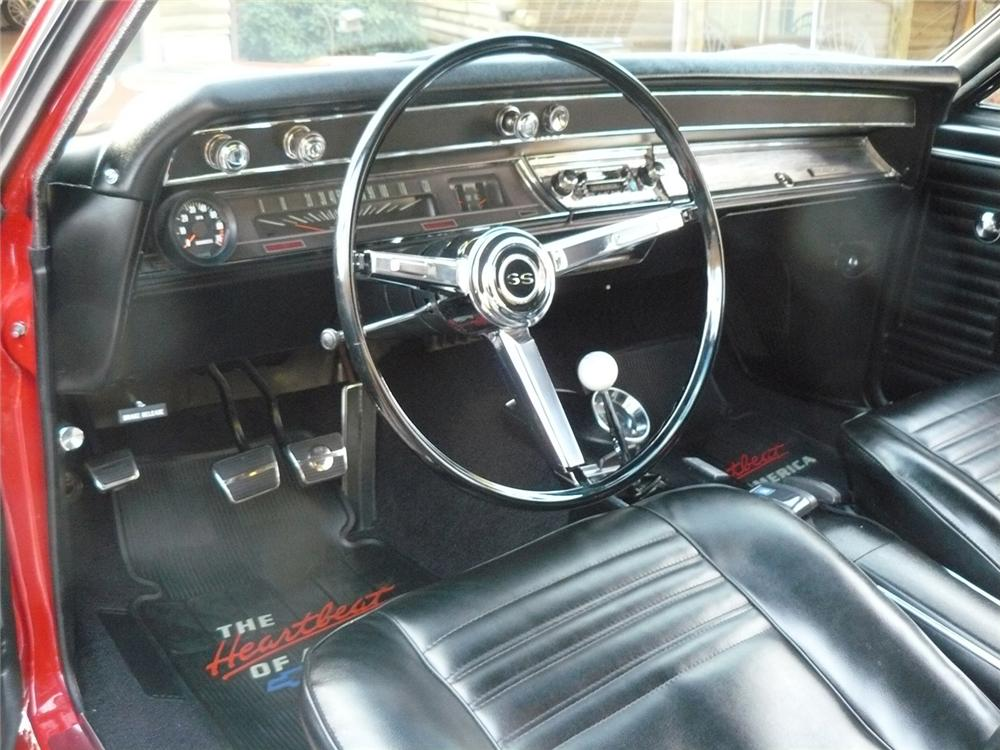1967 CHEVROLET CHEVELLE SS 396 2 DOOR COUPE - Interior - 63830