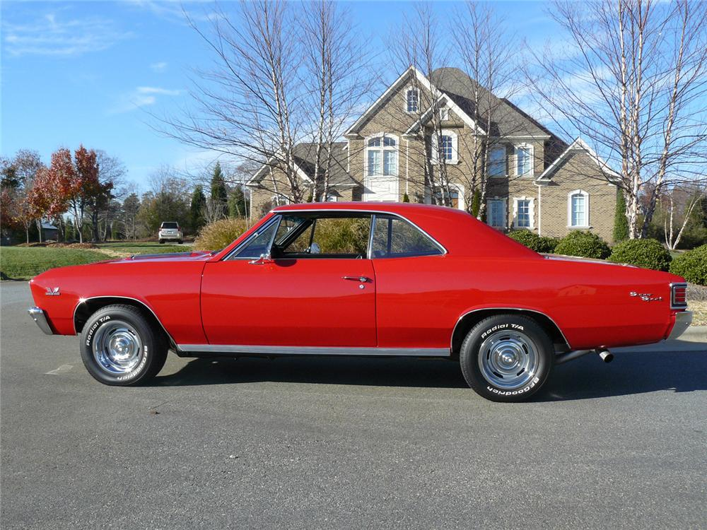 1967 CHEVROLET CHEVELLE SS 396 2 DOOR COUPE - Side Profile - 63830