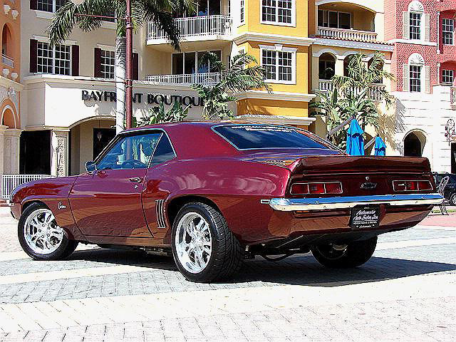 1969 CHEVROLET CAMARO CUSTOM COUPE - Rear 3/4 - 63831