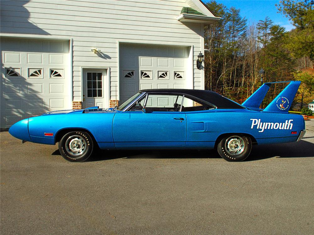1970 PLYMOUTH SUPERBIRD 2 DOOR  HARDTOP - Side Profile - 63838