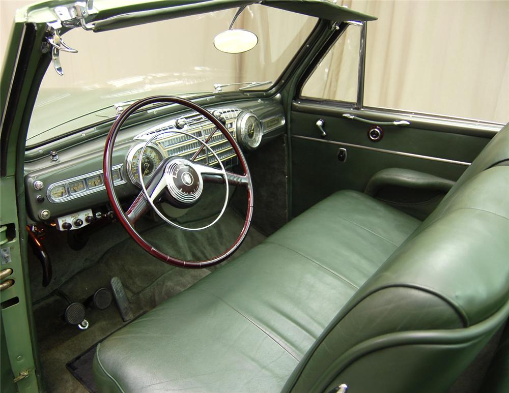 1948 LINCOLN CONVERTIBLE - Interior - 63850