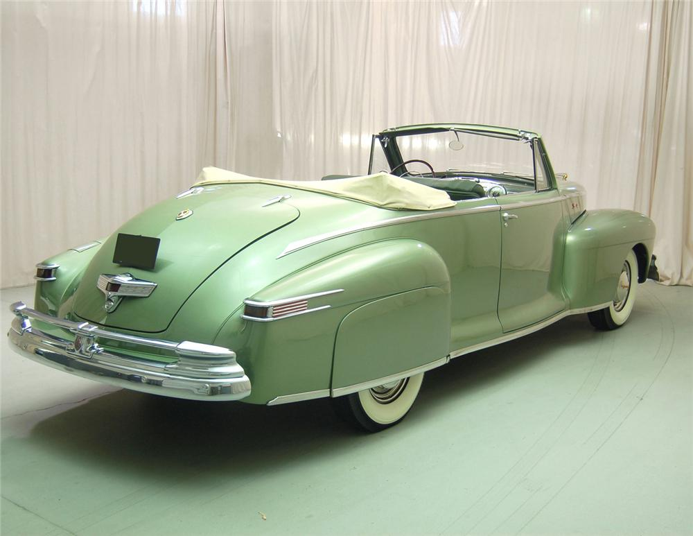 1948 LINCOLN CONVERTIBLE - Rear 3/4 - 63850