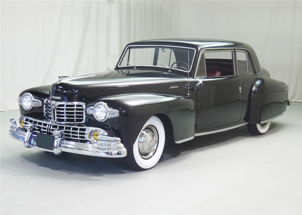 1947 LINCOLN CONTINENTAL COUPE - Front 3/4 - 63851