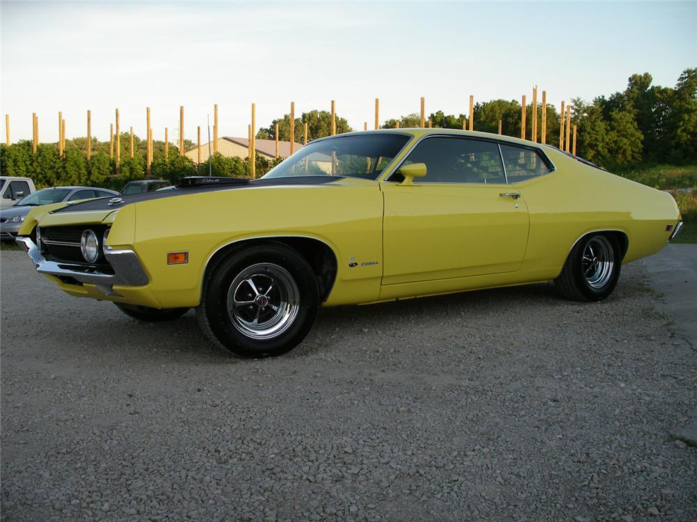 1970 FORD TORINO COBRA SPORTSROOF - Side Profile - 63853