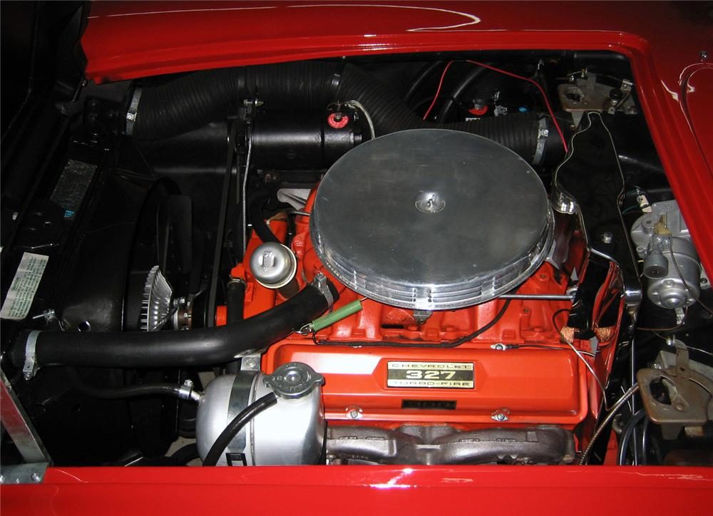 1962 CHEVROLET CORVETTE CONVERTIBLE - Engine - 63859