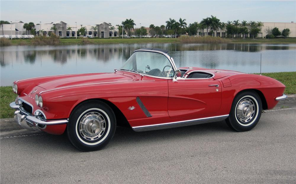 1962 CHEVROLET CORVETTE CONVERTIBLE - Front 3/4 - 63859