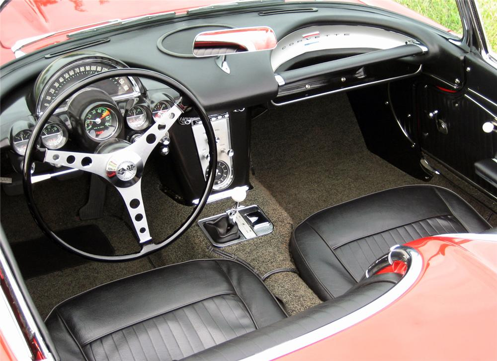 1962 CHEVROLET CORVETTE CONVERTIBLE - Interior - 63859