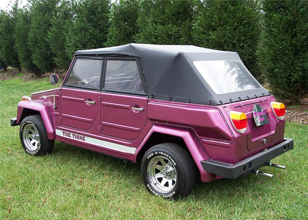 1974 VOLKSWAGEN THING CUSTOM CONVERTIBLE - Rear 3/4 - 63868