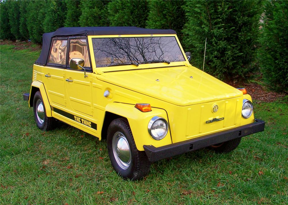 1973 VOLKSWAGEN THING CONVERTIBLE - Front 3/4 - 63869