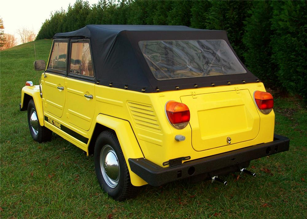 1973 VOLKSWAGEN THING CONVERTIBLE - Rear 3/4 - 63869