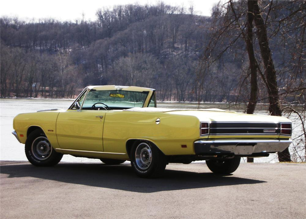 1969 dodge dart gts convertible 63878 1969 dodge dart gts convertible rear 34 63878 publicscrutiny Choice Image