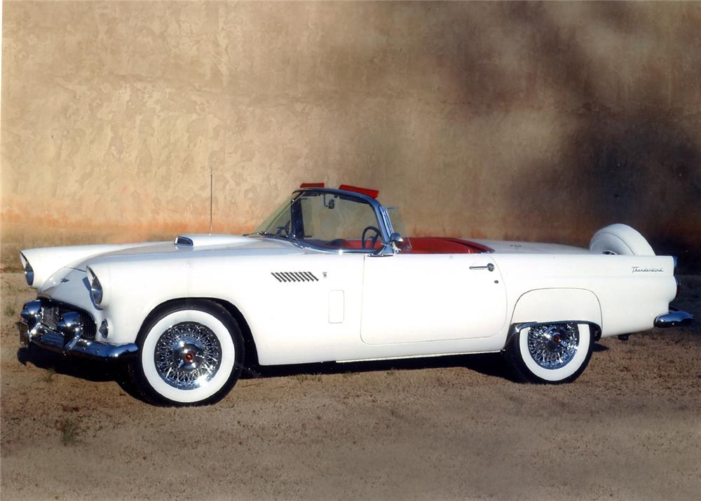 1956 FORD THUNDERBIRD CONVERTIBLE - Front 3/4 - 63904