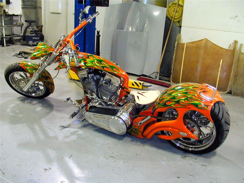 2007 ASVE SOFTTAIL CHOPPER - Front 3/4 - 63921