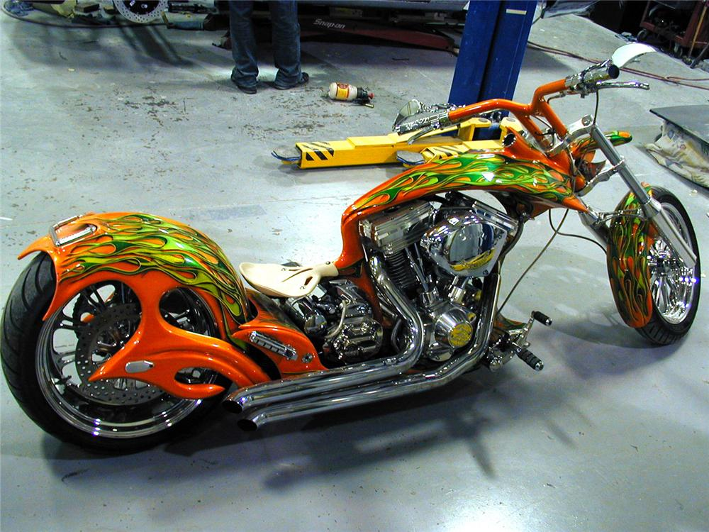 2007 ASVE SOFTTAIL CHOPPER - Side Profile - 63921