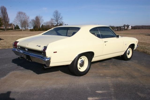 1969 CHEVROLET CHEVELLE SS 396 2 DOOR  HARDTOP - Rear 3/4 - 63932