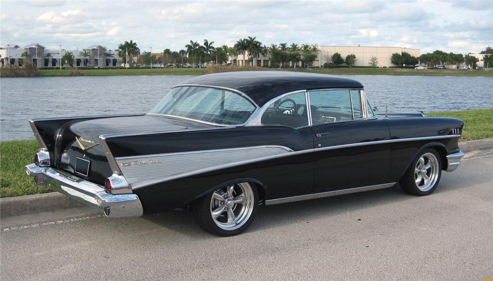 1957 chevrolet bel air 2 door custom hardtop resto mod 63946