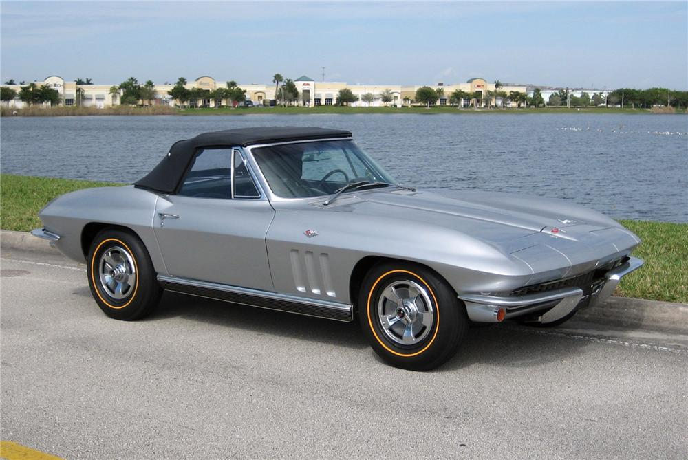 1966 CHEVROLET CORVETTE CONVERTIBLE - Side Profile - 63949
