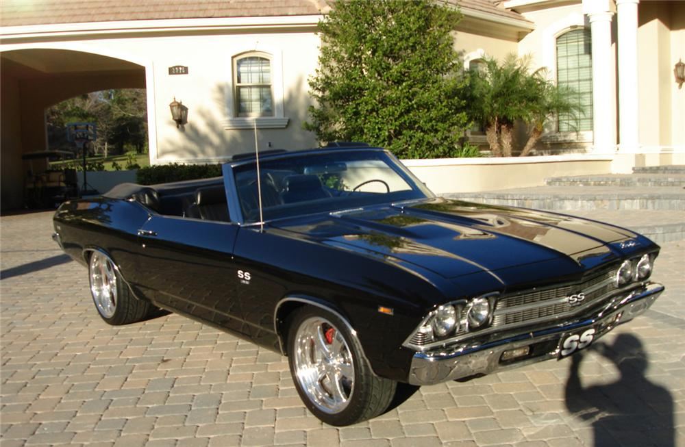 1969 CHEVROLET CHEVELLE SS 396 CONVERTIBLE - Front 3/4 - 63967
