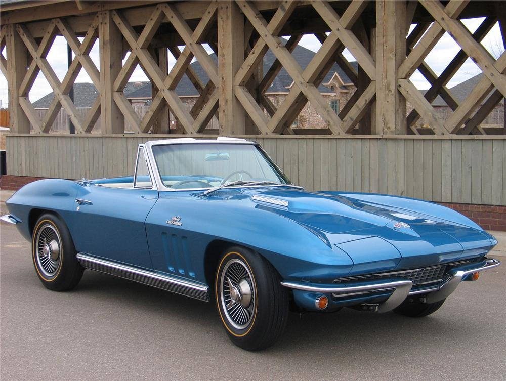 1966 CHEVROLET CORVETTE CONVERTIBLE - Front 3/4 - 63970