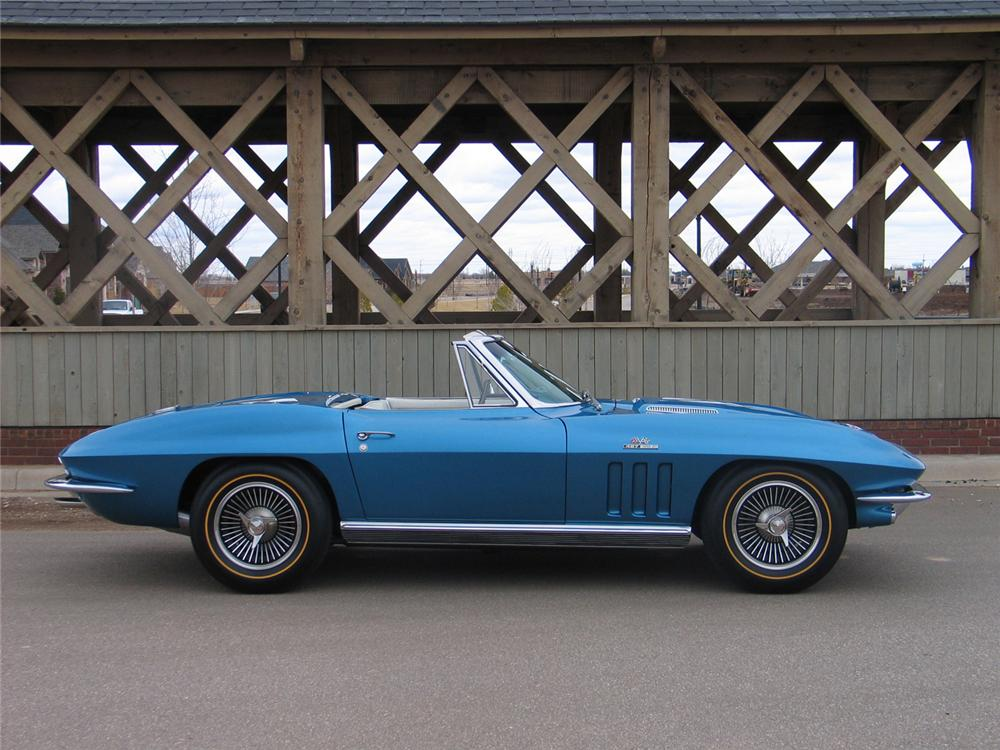 1966 CHEVROLET CORVETTE CONVERTIBLE - Side Profile - 63970