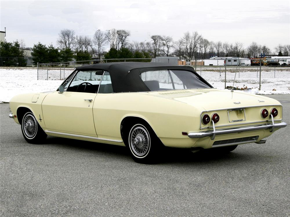 1969 CHEVROLET CORVAIR MONZA CONVERTIBLE - Rear 3/4 - 63999
