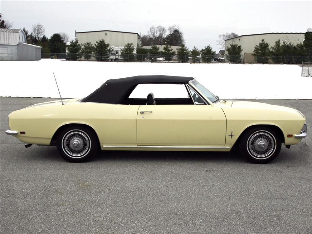 1969 CHEVROLET CORVAIR MONZA CONVERTIBLE - Side Profile - 63999