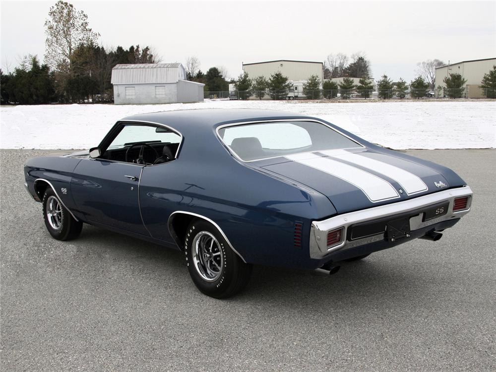 1970 CHEVROLET CHEVELLE SS SPORT COUPE - Rear 3/4 - 64000