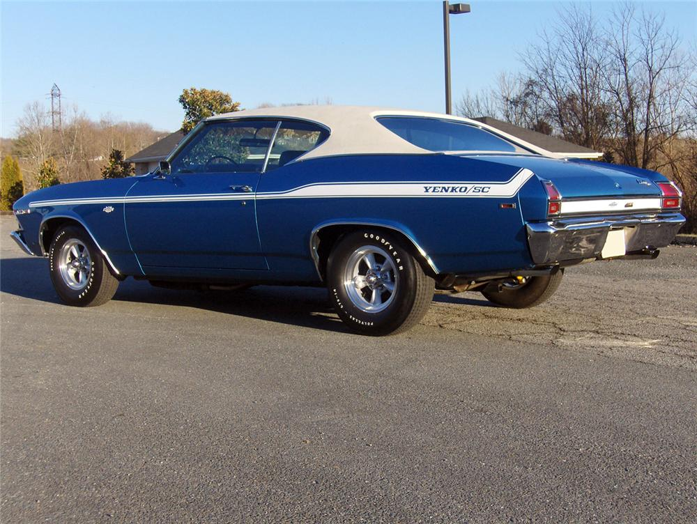 1969 CHEVROLET YENKO CHEVELLE RE-CREATION COUPE - Rear 3/4 - 64004